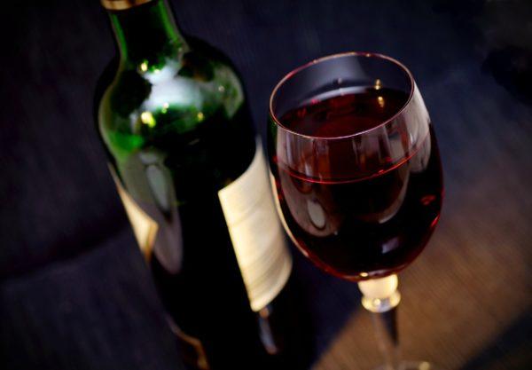 Dépôt dans le vin